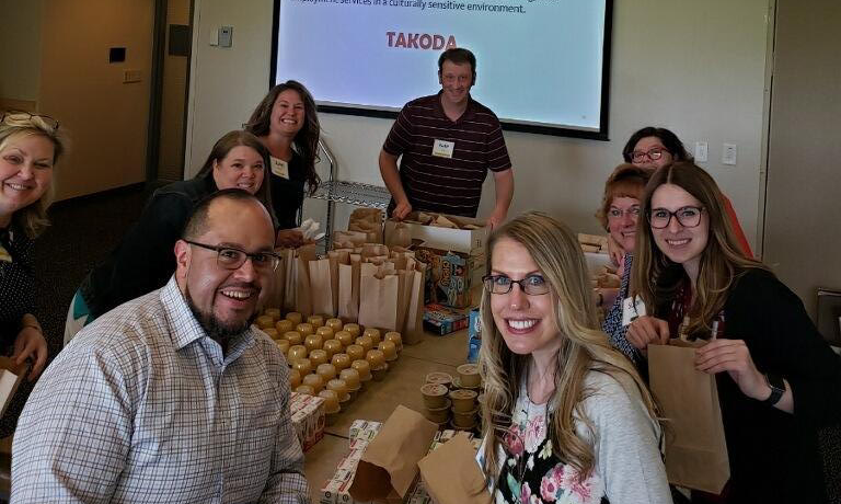 Wells Fargo Donates Healthy Snacks for Takoda Clients